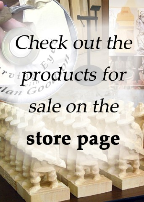 Photo collage of some of the products for sale on the Store Page.  Clicking on this image will take you to the Store page.