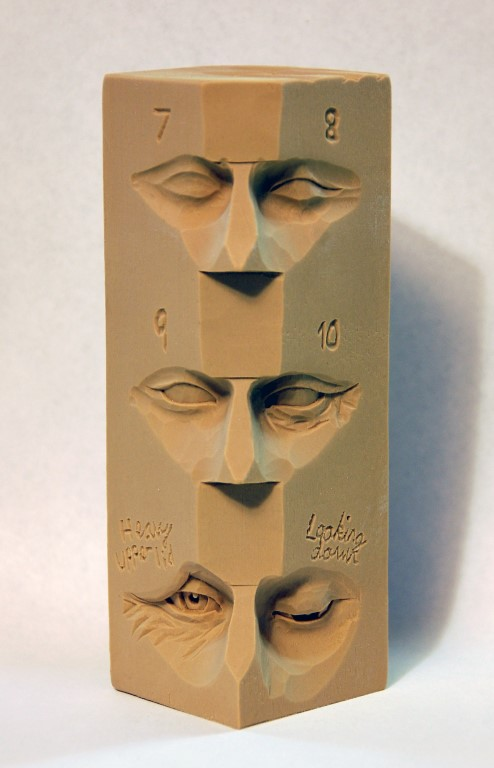 Eye study stick wood carvings by dylan goodson