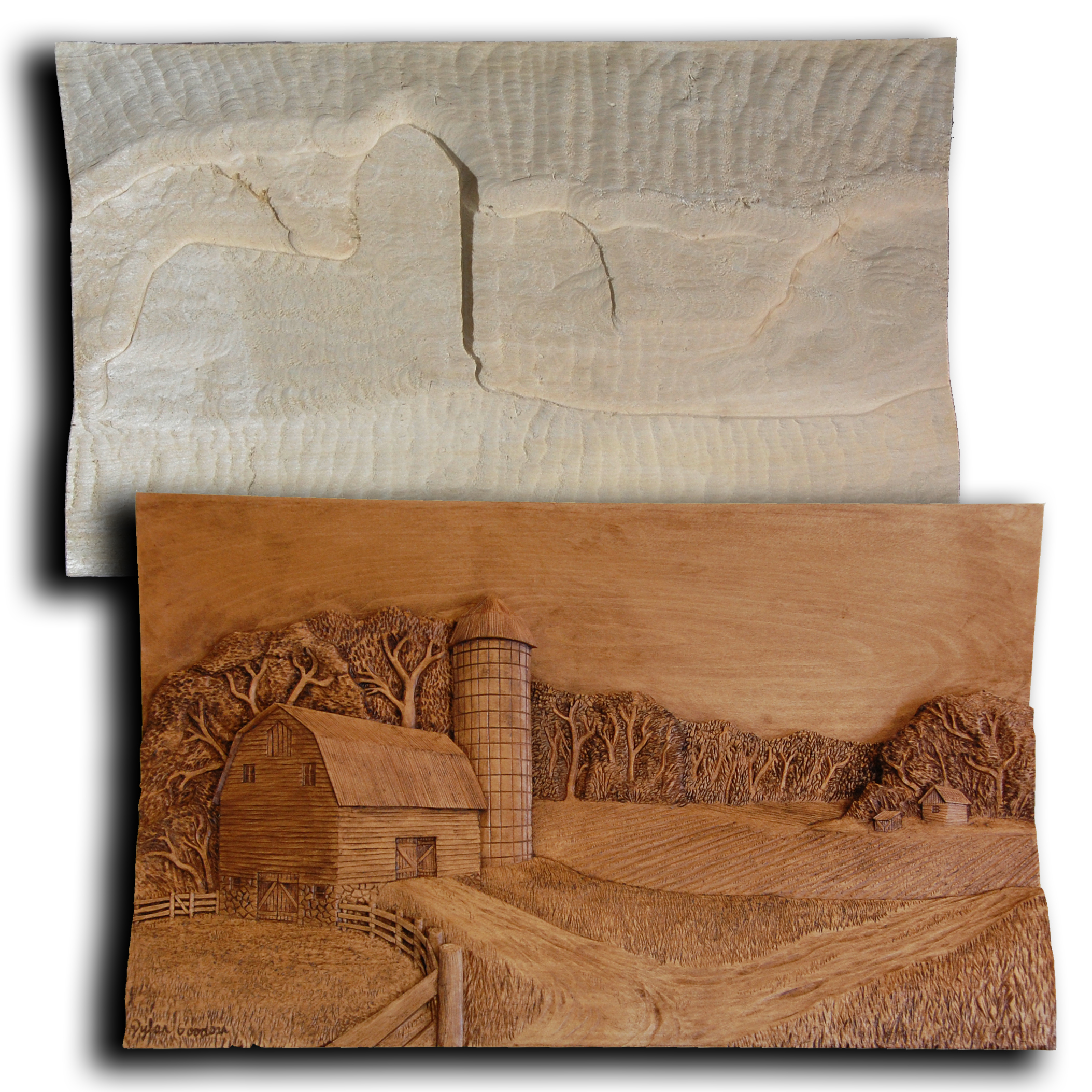Lighthouse farms rough out wood carvings by dylan goodson